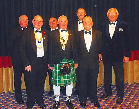 (Left-right) Bill Paterson, SPOA president; John Longmiur, CMPE national chairman; Jim Williamson, chairman of CMPE Aberdeen branch; John McGrath, chairman CMPE Glasgow branch; Mark Griston, Project Plant magazine; Stewart Smith, guest speaker; and guest speaker Jim Leishman.