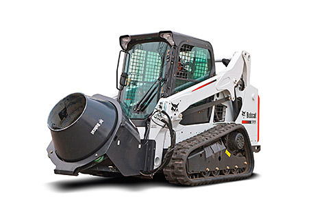 It is approved for attachment to Bobcat compact loaders.
