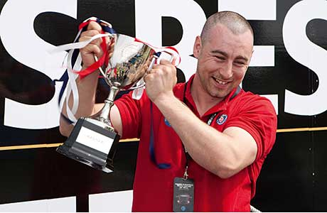 In 2012, Shrewsbury's Gareth Thomas lifted the Young European Truck Driver trophy to secure his place at that year's European final.