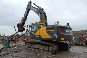 The Volvo EC300E excavator