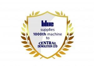 1000th machine logotype