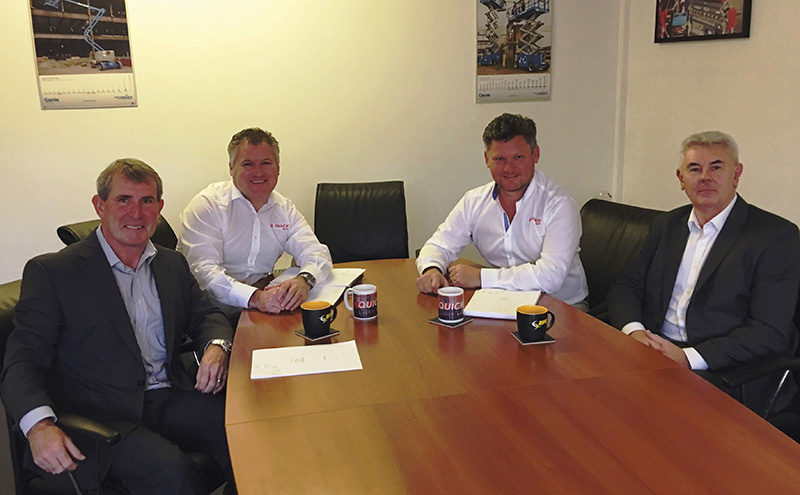 From L-R Tony Jennings of IAPS Group, David and John Barton of Quick Reach, Steve Couling of IAPS Group