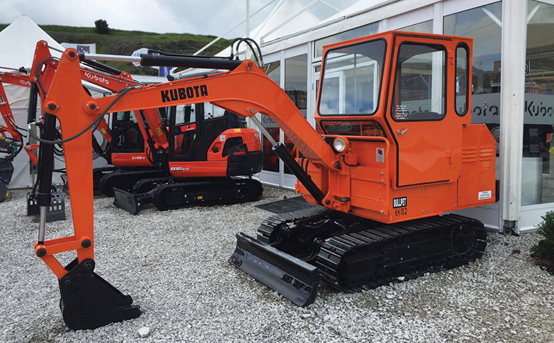 Kubota KH10D at Hillhead. This is actually the 1st Mini Digger ever sold in the UK.