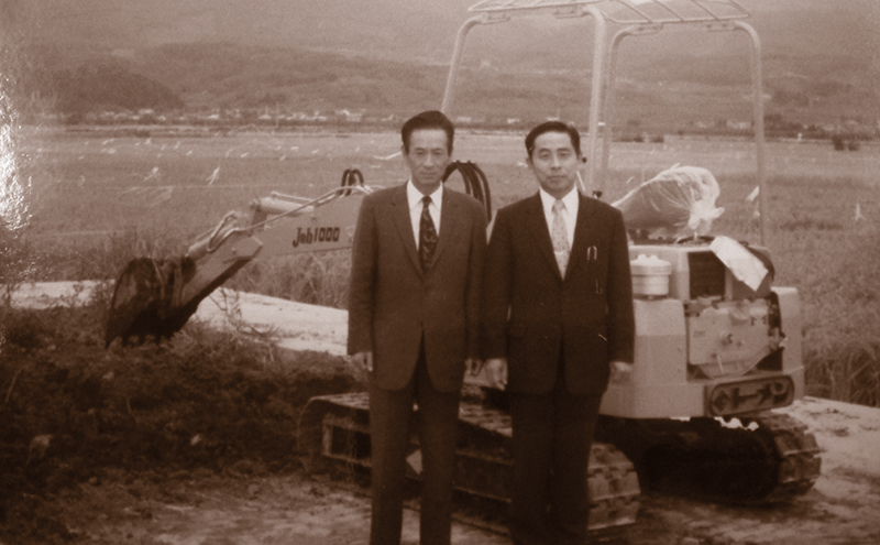 Mr Takeuchi & customer