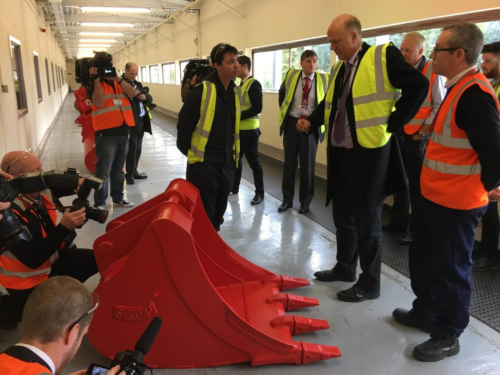 transport-secretary-chris-grayling-mp-visits-miller-uks-factory